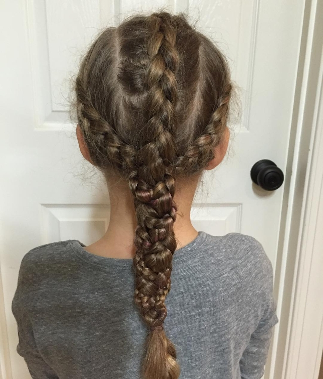 Triple Braid Hairstyle for Kids