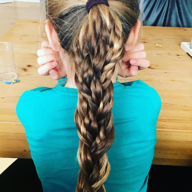 high triple braid hairstyle