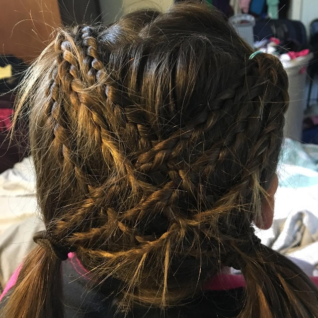 cross triple braid hairstyle