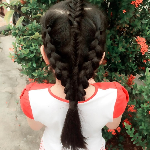 Modern Triple Braid Hair
