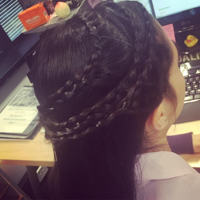 triple braid black hairstyle