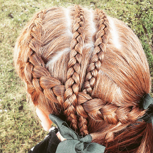 Surfer Triple Braid Hairstyle