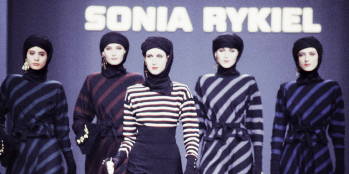 Sonia Rykiel 1989 Fall Fashion Show