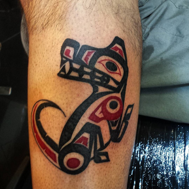 wolf haida tattoo design