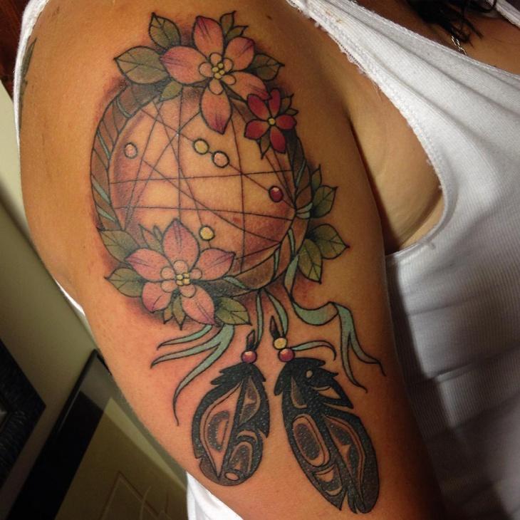 Flower Haida Tattoo