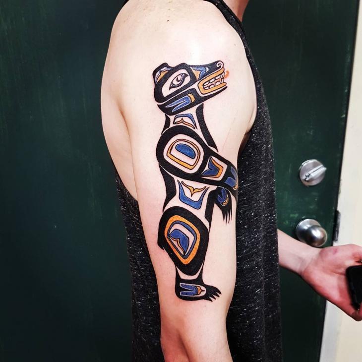 black half sleeve tattoo
