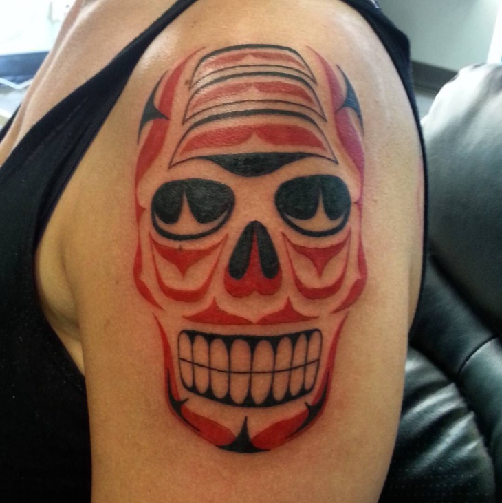 Haida Skull Tattoo