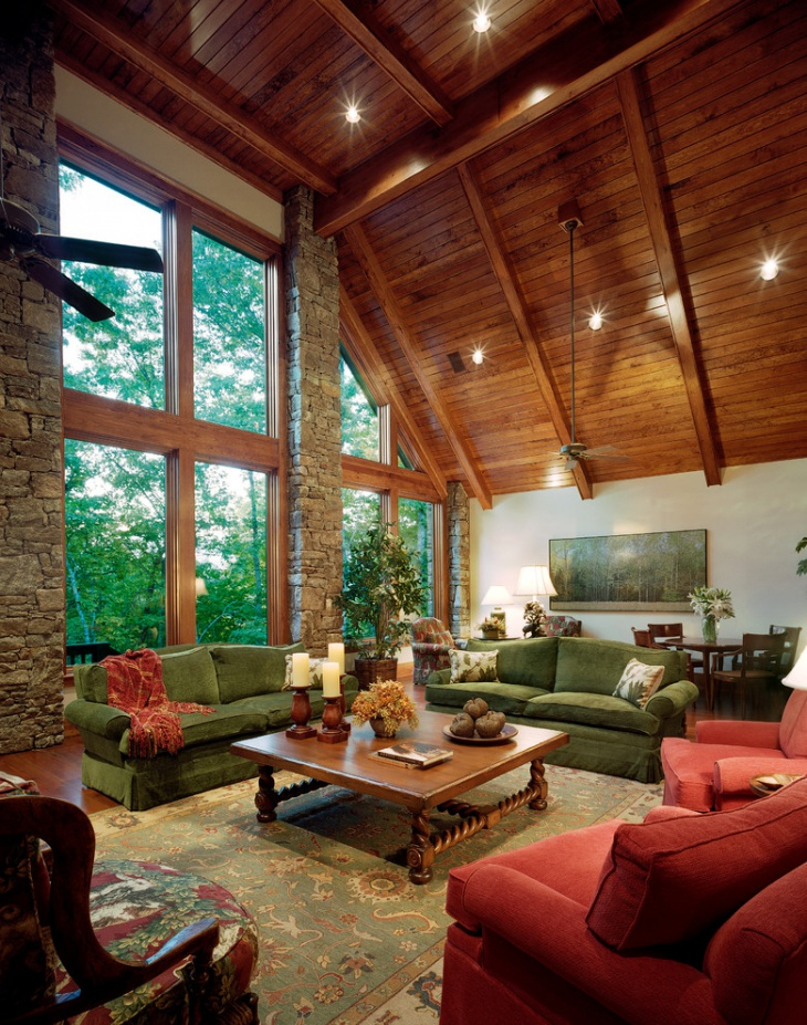 Wood Paneled Room Design: 18+ Wood Panel Ceiling Designs, Ideas