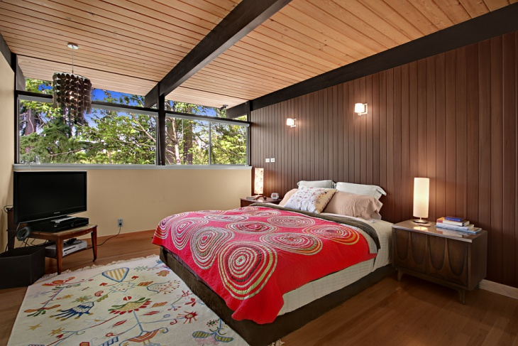 Wooden Bedroom Ceiling idea