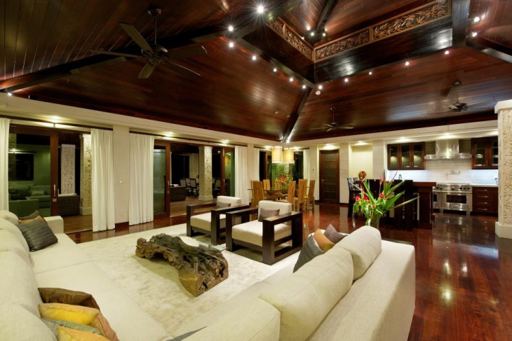 Hardwood Panel Ceiling Design