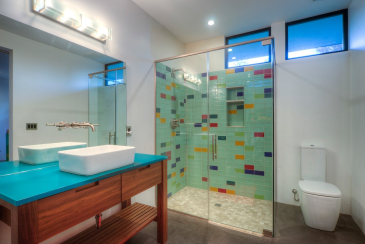 bathroom subway tile. Colored Subway Tile Bathroom Design