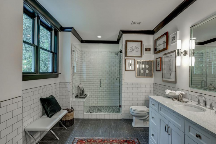 craftsman bathroom with subway tile - Craftsman Bathroom 2016