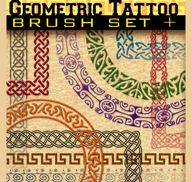 Geometric Tattoo Brush Set