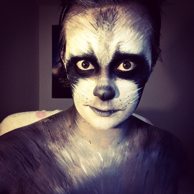 Black Eyes Raccoon Makeup