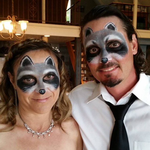 couple raccoon eye makeup