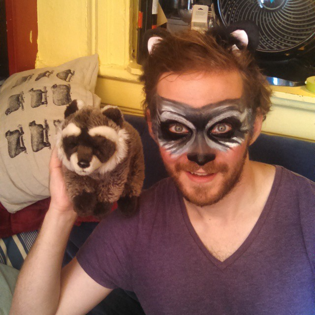 Trendy Raccoon Makeup for Men