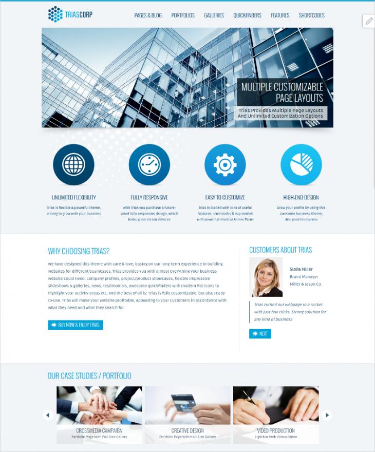 marketing business corporate wordpress theme