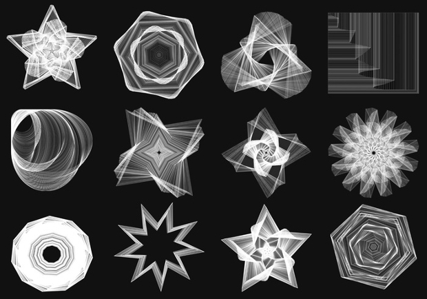 Geometry Spiral Graph Brushes