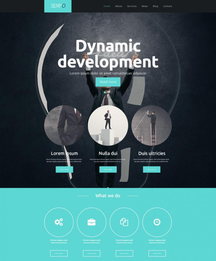 dynamic corporate entity wordpress theme