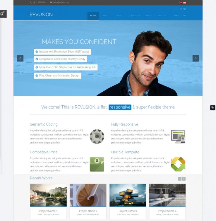 flat corporate wordpress theme
