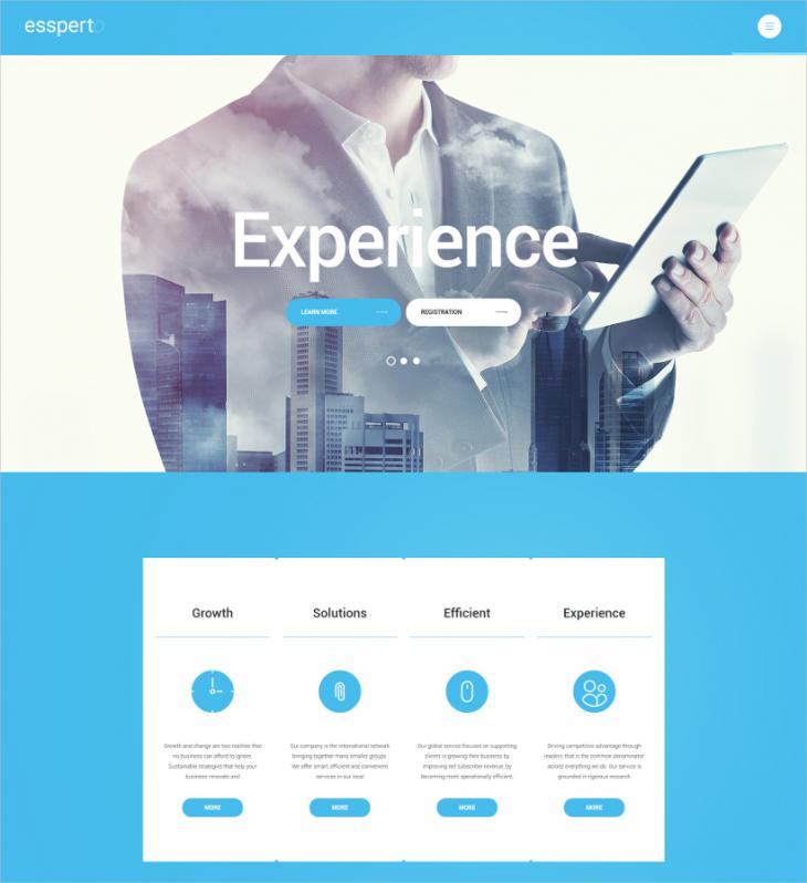 corporate business expert wordpress theme