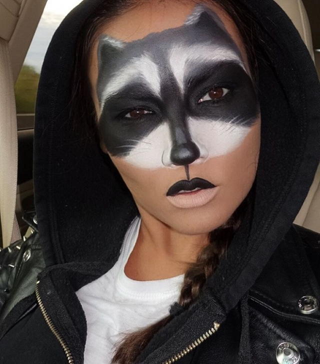 Halloween Raccoon Makeup Idea