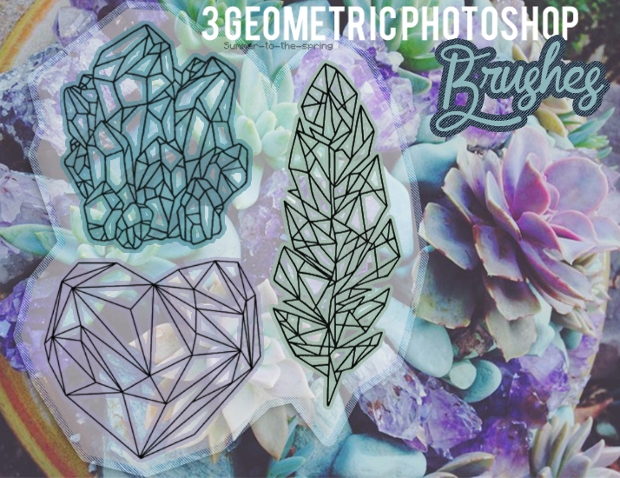 Geometric Spring Photoshop Brushes