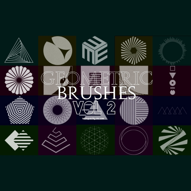 Free Geometric Photoshop Brushes