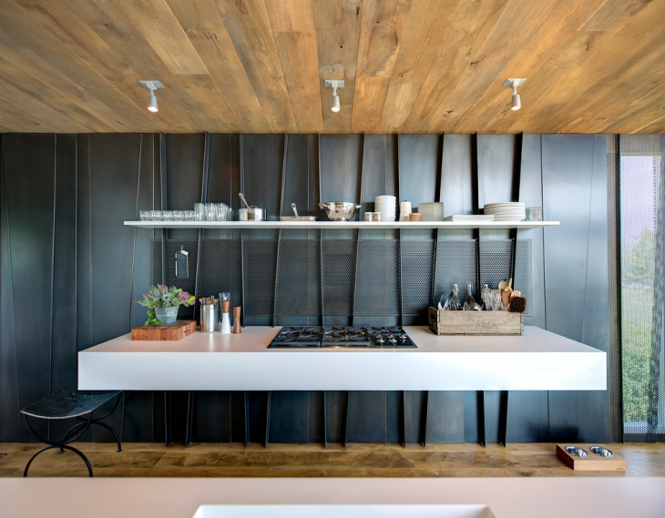 Floating Kitchen Wall Panel Idea