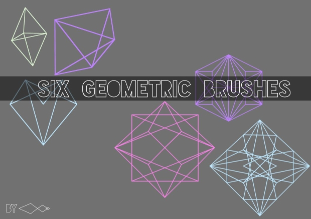High Resolution Geometric Photoshop Brushes