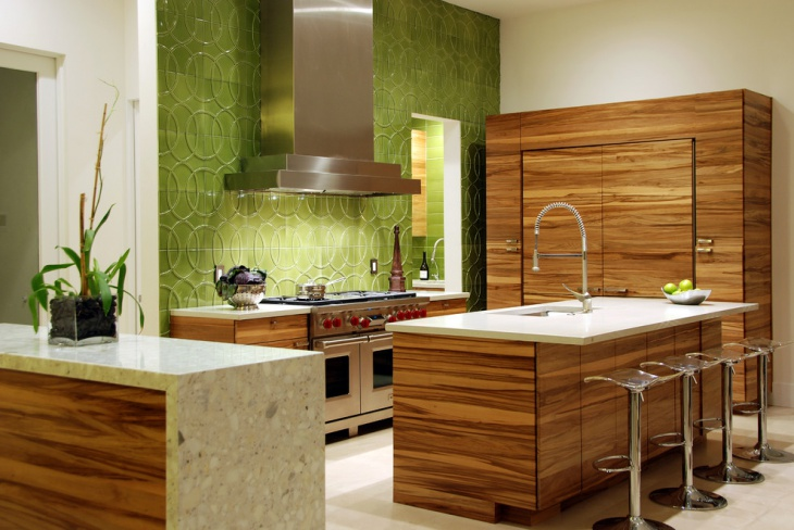 Kitchen Green Wall Panel