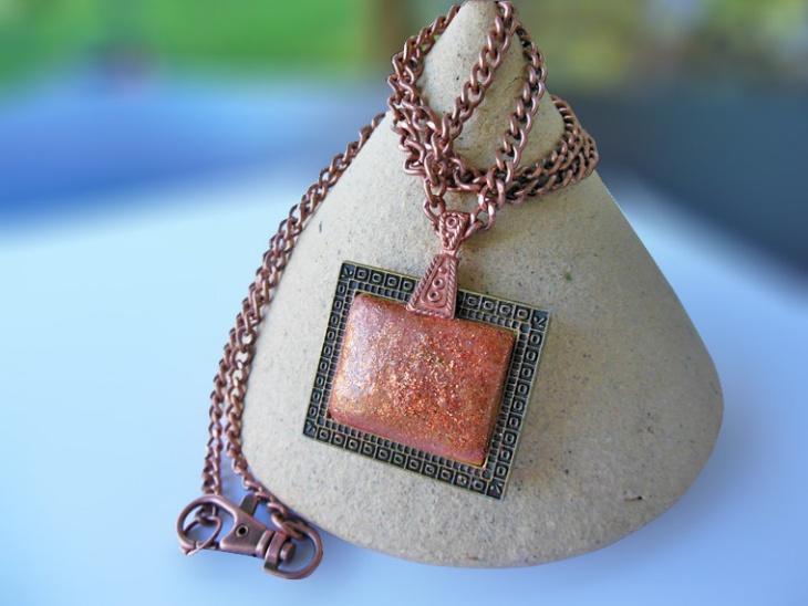 Bronze Rectangle Pendant