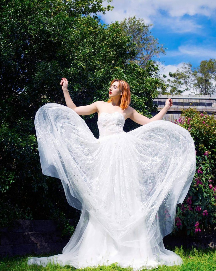 maxi sheer wedding dress
