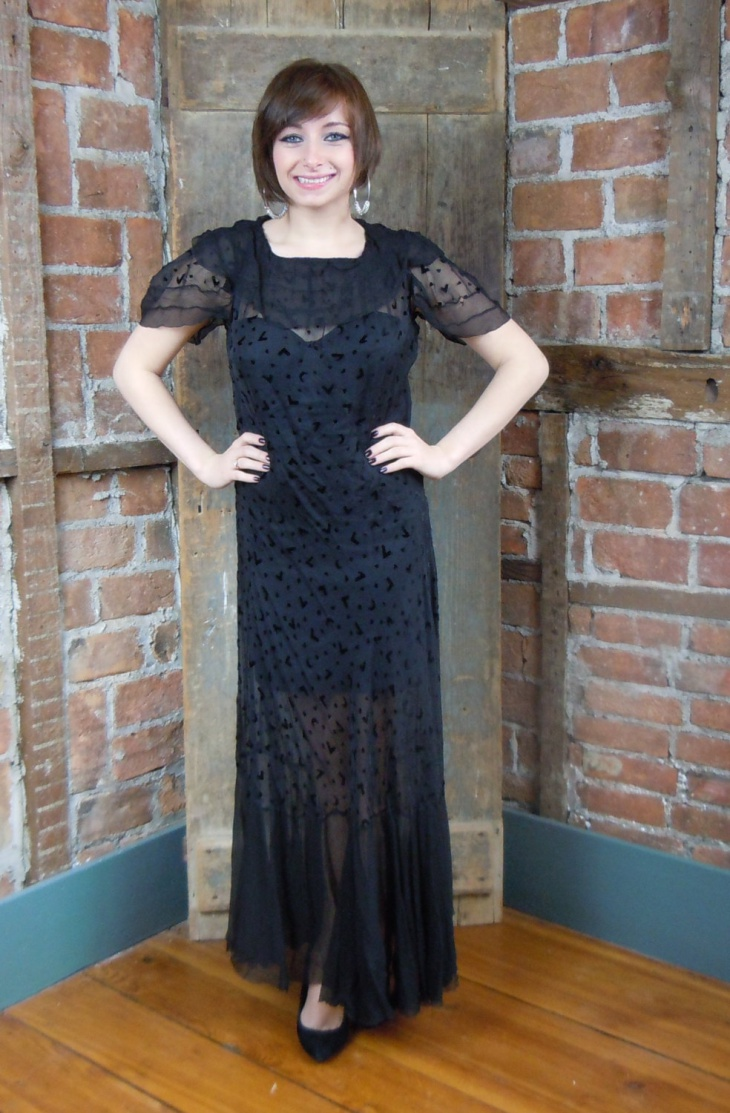 black sheer wedding dress