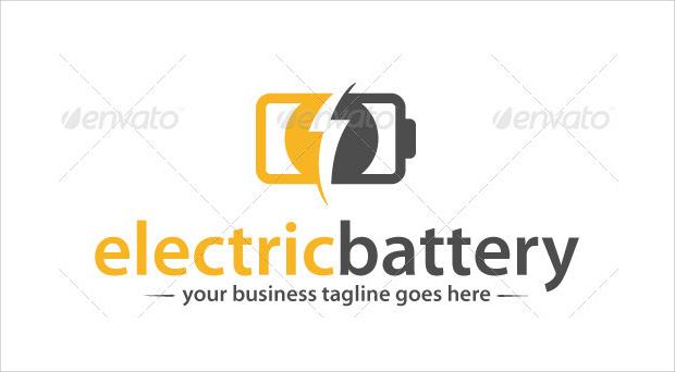 electric battery logo