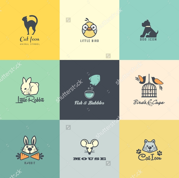 set of colorful icons