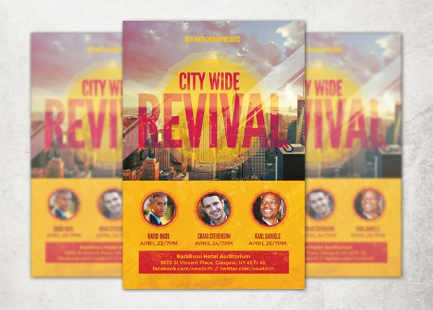 church event flyer design