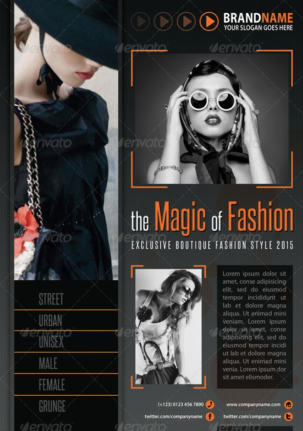 fashion boutique flyer design