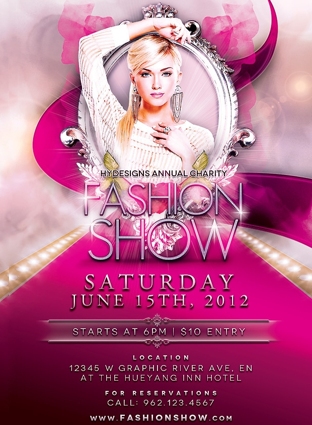 fashion show flyer design