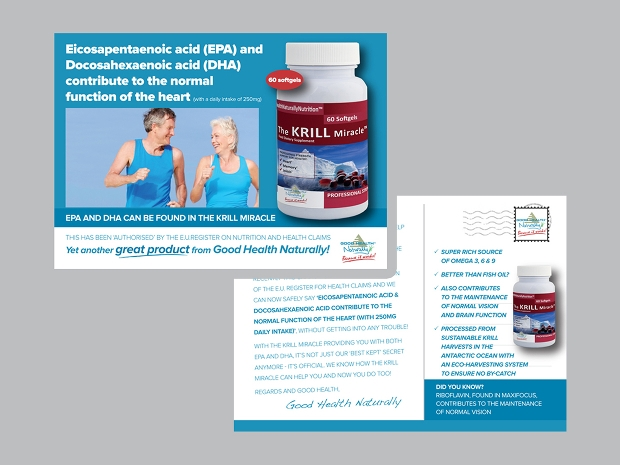 health product flyer design
