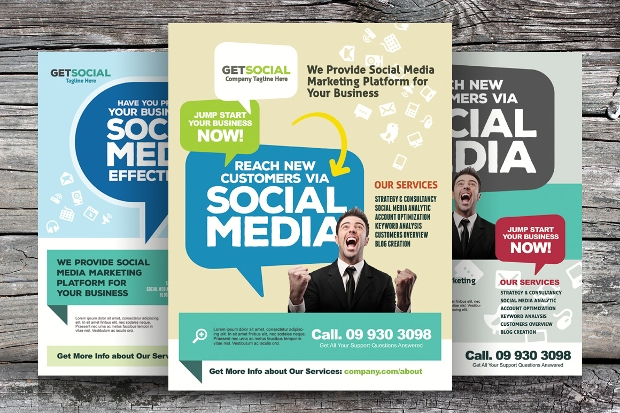 social media marketing flyer design