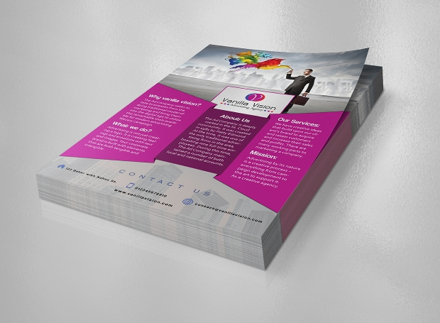 advertising agency flyer design