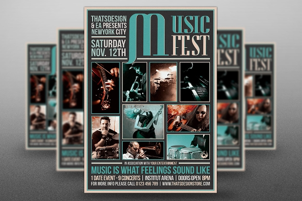 Music Festival Flyer Design