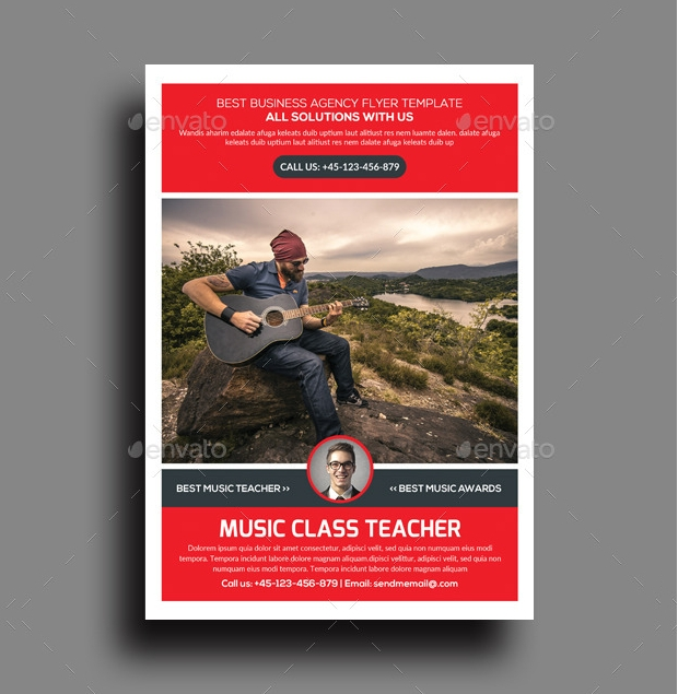 Music Teacher Lessons Flyer Design