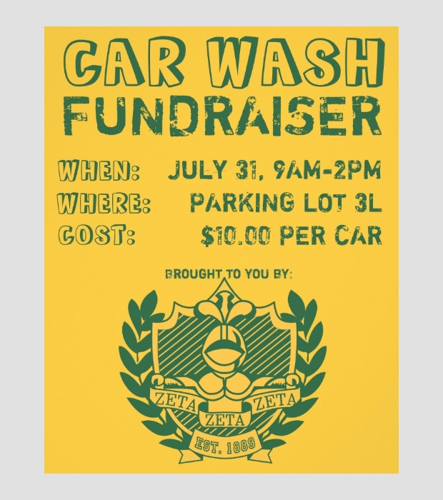 Car Wash Fundraiser Flyer Design