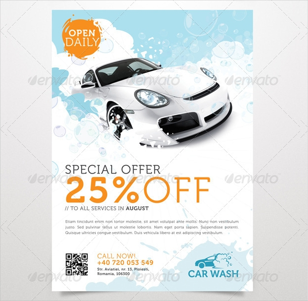 printable car wash flyer design
