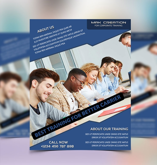 corporate training flyer design