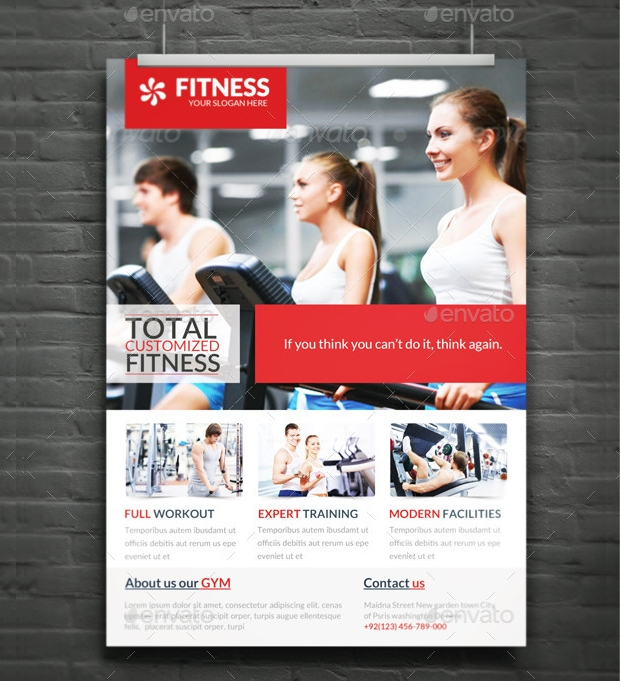 corporate fitness flyer design