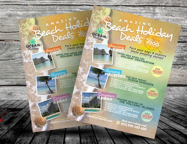 holiday travel flyer design