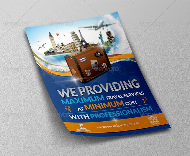 travel company flyer design